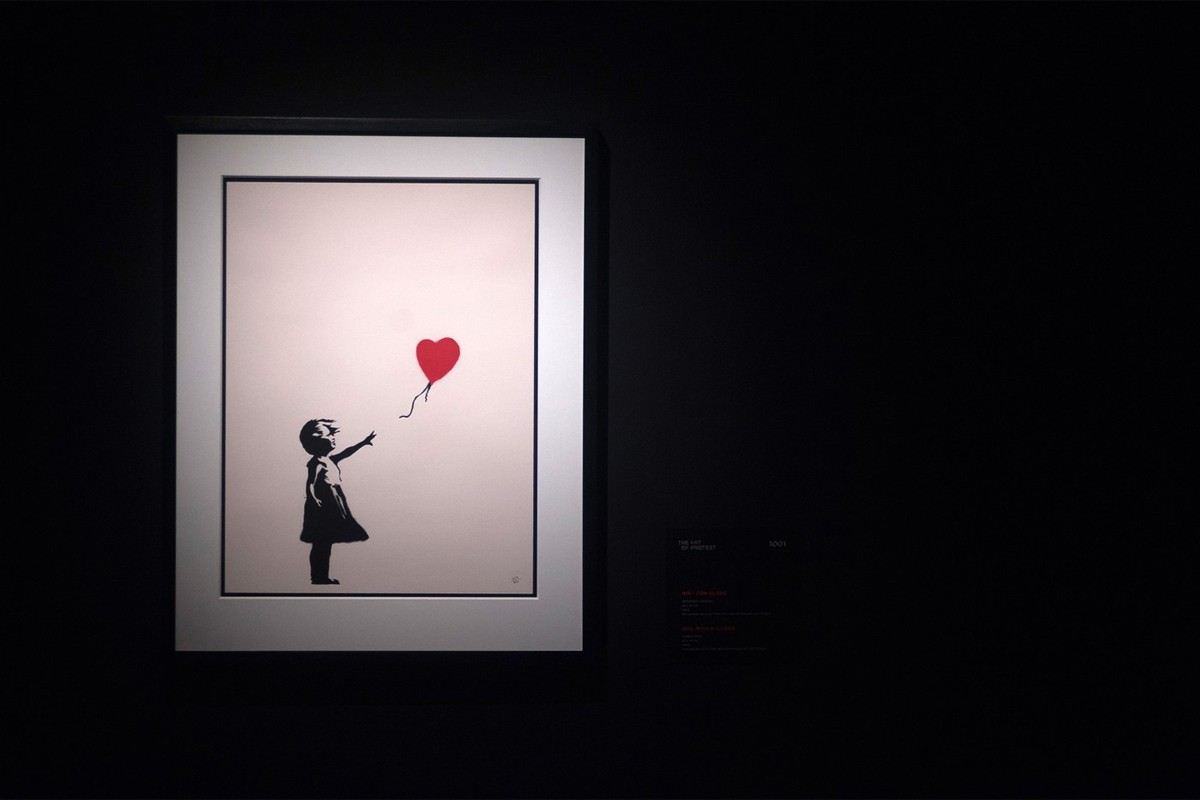 Banksy 于 Sotheby's 拍卖行竞拍之画作总成交价高达 £110 万英镑